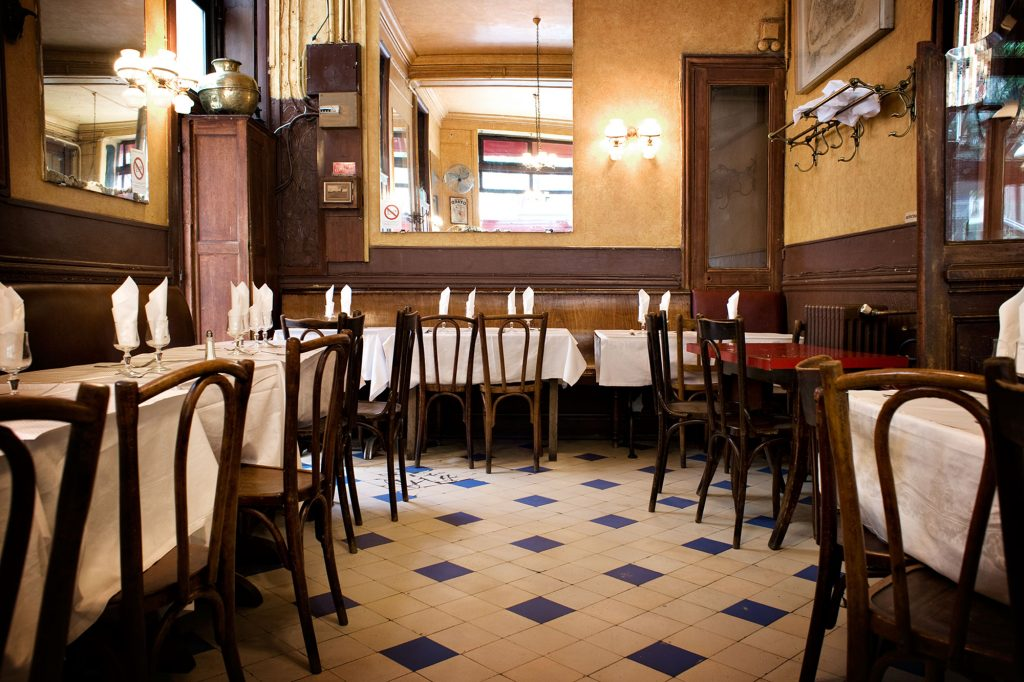inside the restaurant Chez Omar in Le Marais Paris