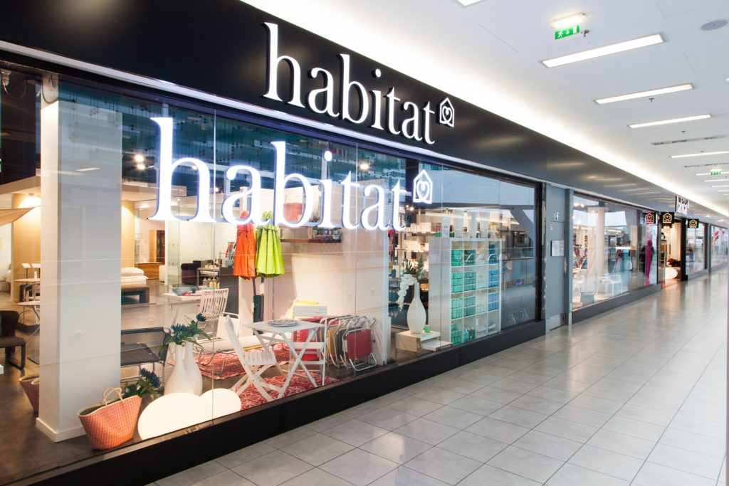 The shop front of Habitat in Paris