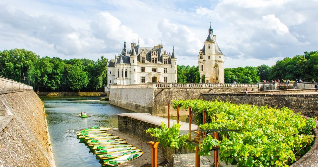 One of the castles in Loire Valley