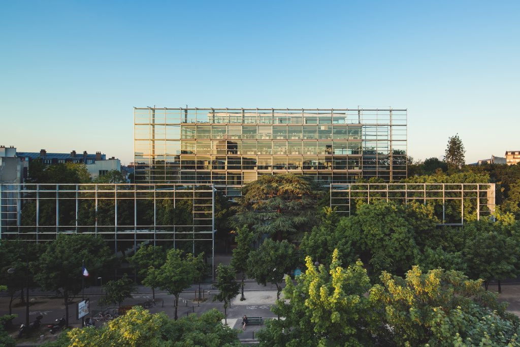 facade of the Fondation Cartier Paris