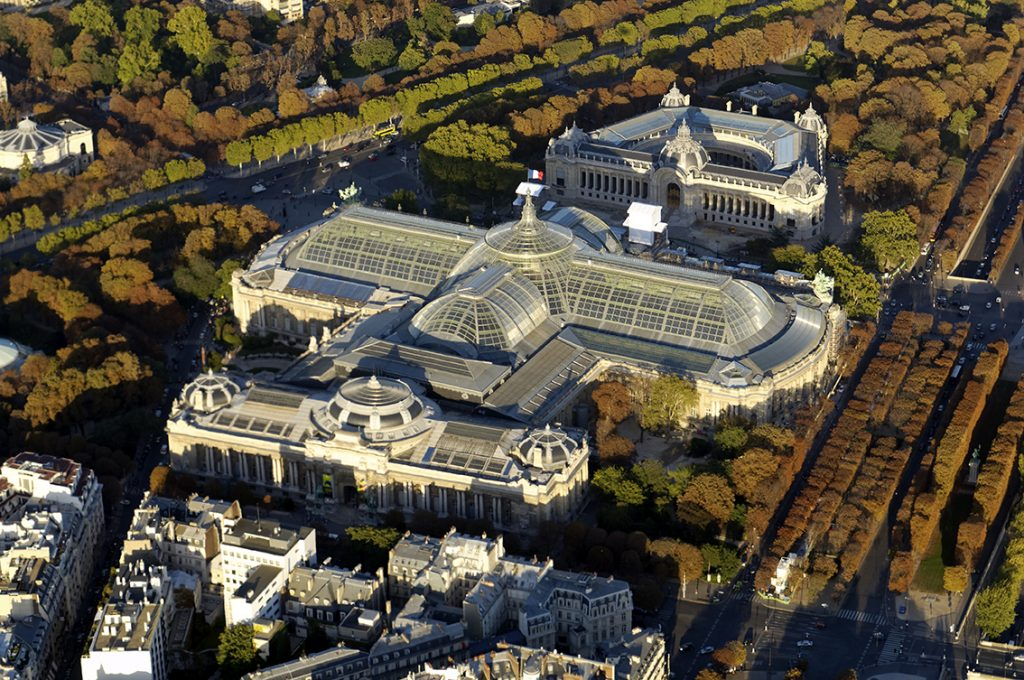 Aerial shot of the Grand Palais
