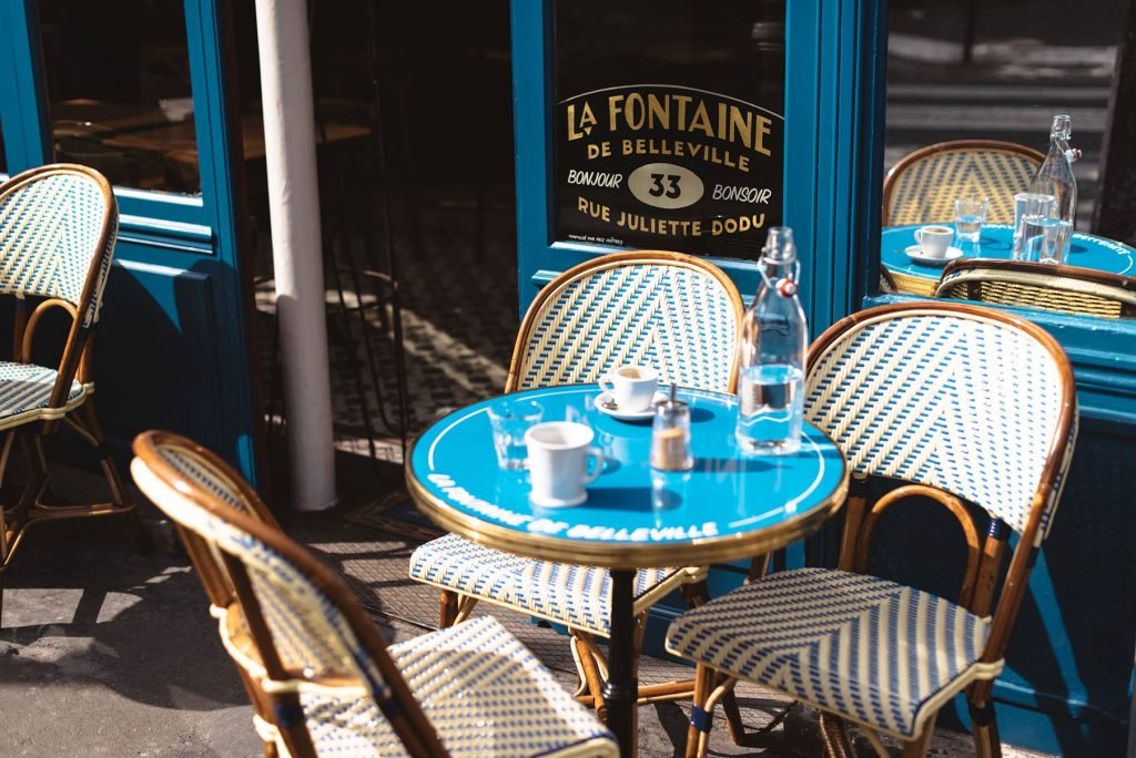 the terrasse chars of La Fontaine de Bellevile