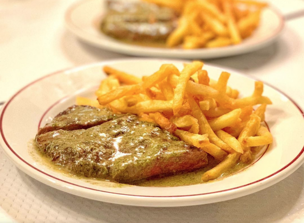 the steak frites at Le Relais de l'Entrecote