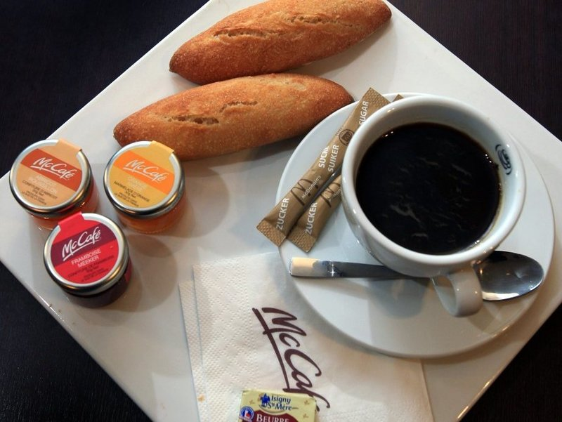 breakfast at a McCafe in France