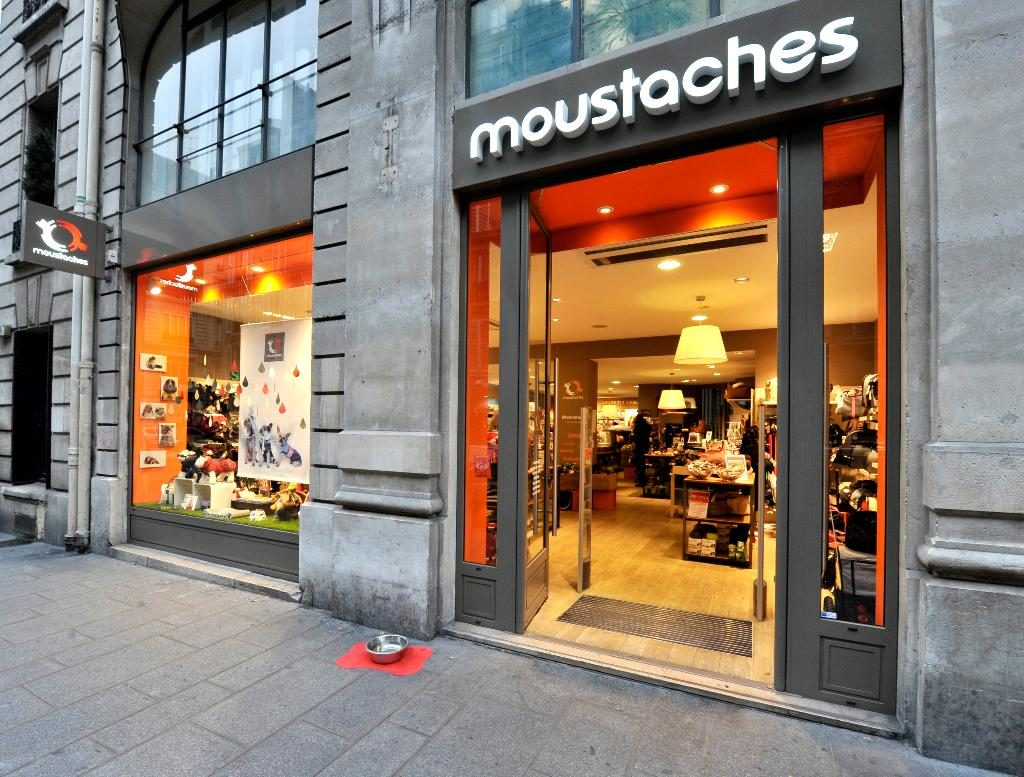 shopfront of Moustaches Paris