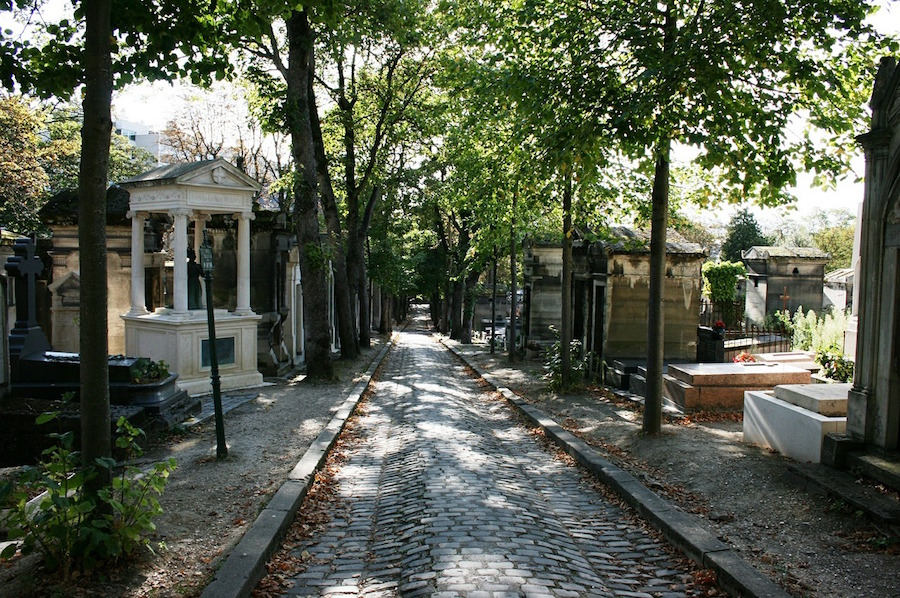 Pere Lachaise cemetery in Paris