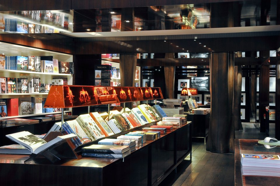 Inside the Taschen bookstore in Left Bank Paris