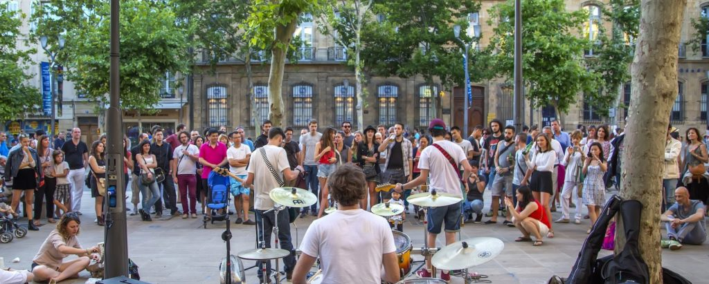 fete de la musique on the streets