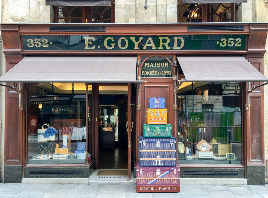 a Goyard boutique in Paris, France