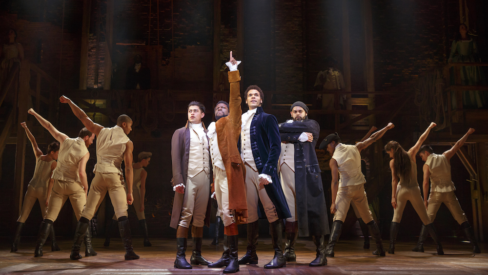Hamilton Musical at the Orpheum Theatre in London
