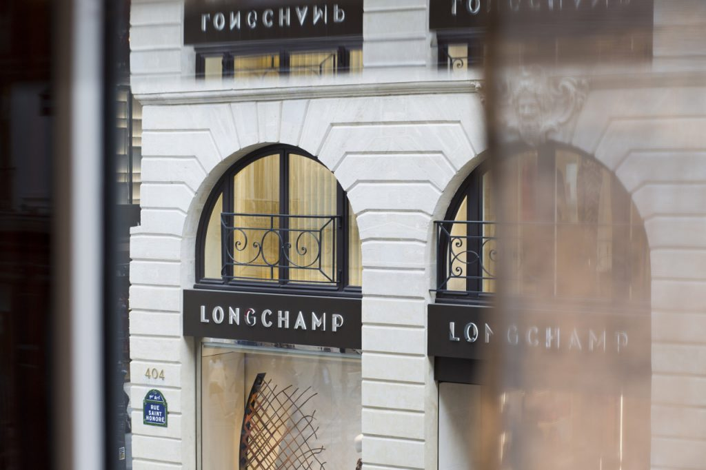 view of the Longchamp flagship from a window