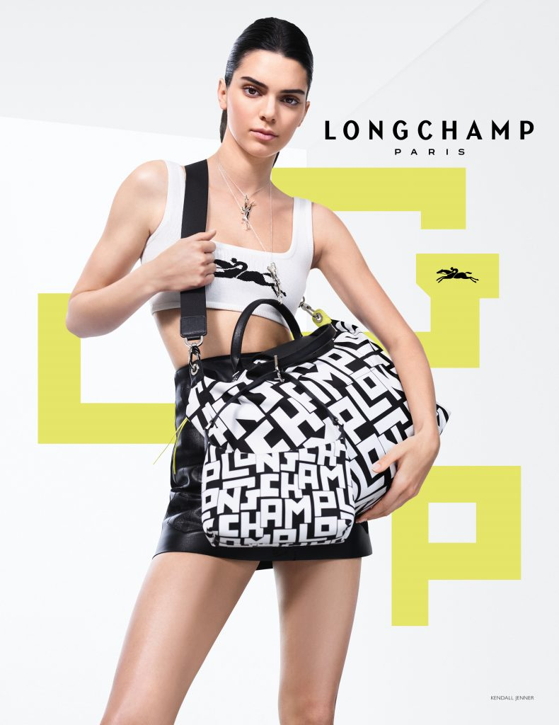 supermodel Kendall Jenner for Longchamp