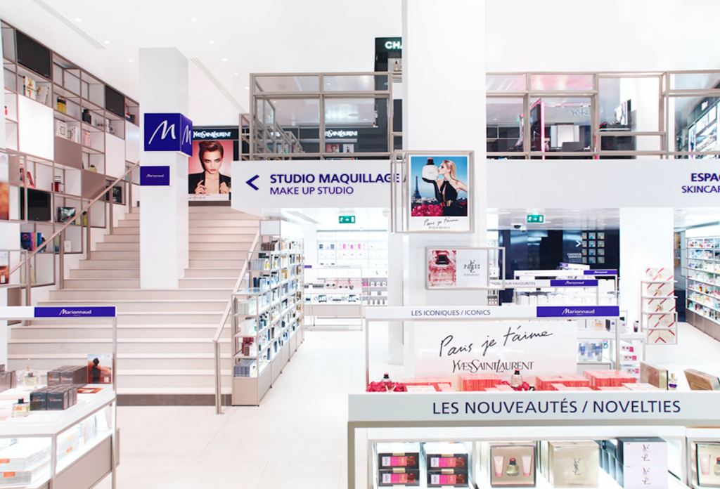 inside a Marionnaud Paris store