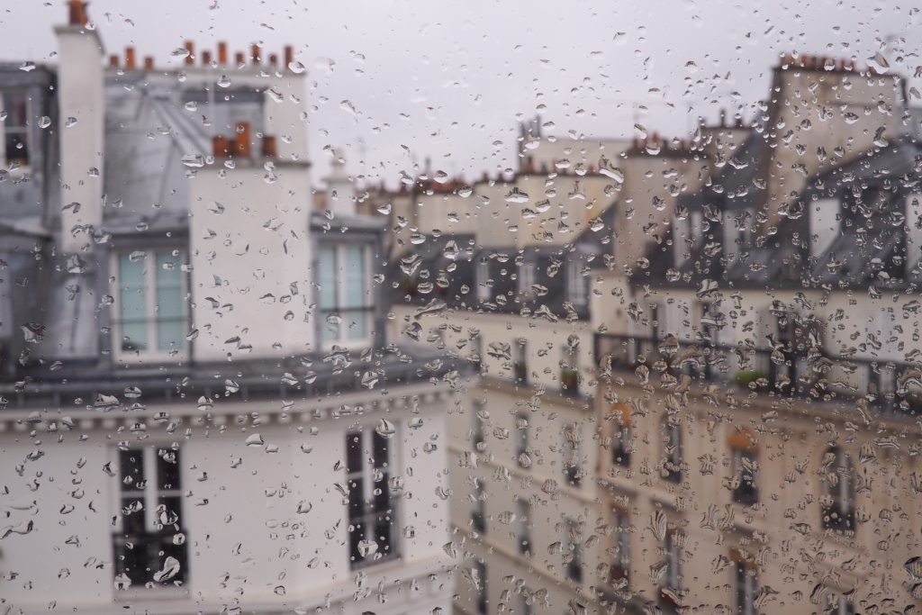 October in Paris rainy day