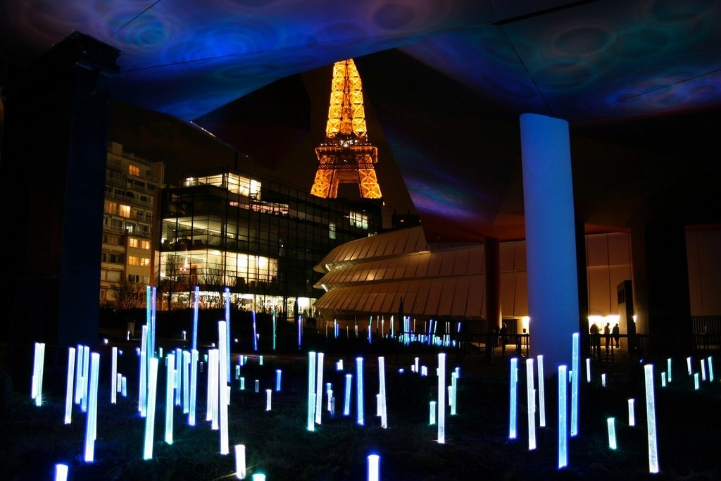 Quai Branly at night