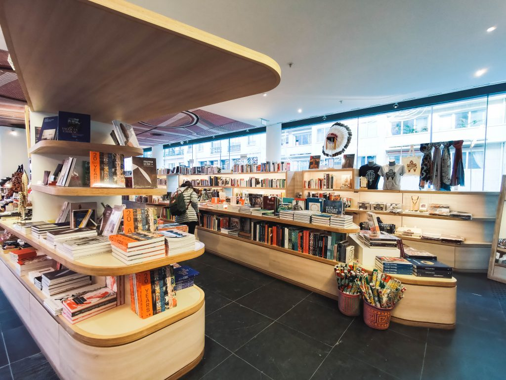 the bookstore - musee du quai branly - jacques chirac