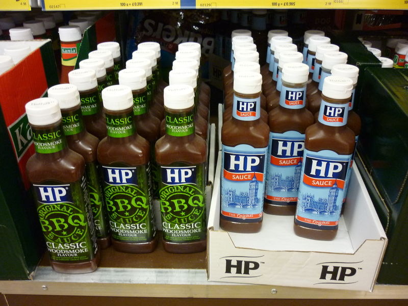 UK grocery stores HP sauce