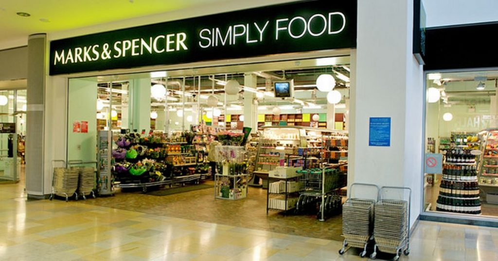 UK grocery stores M&S