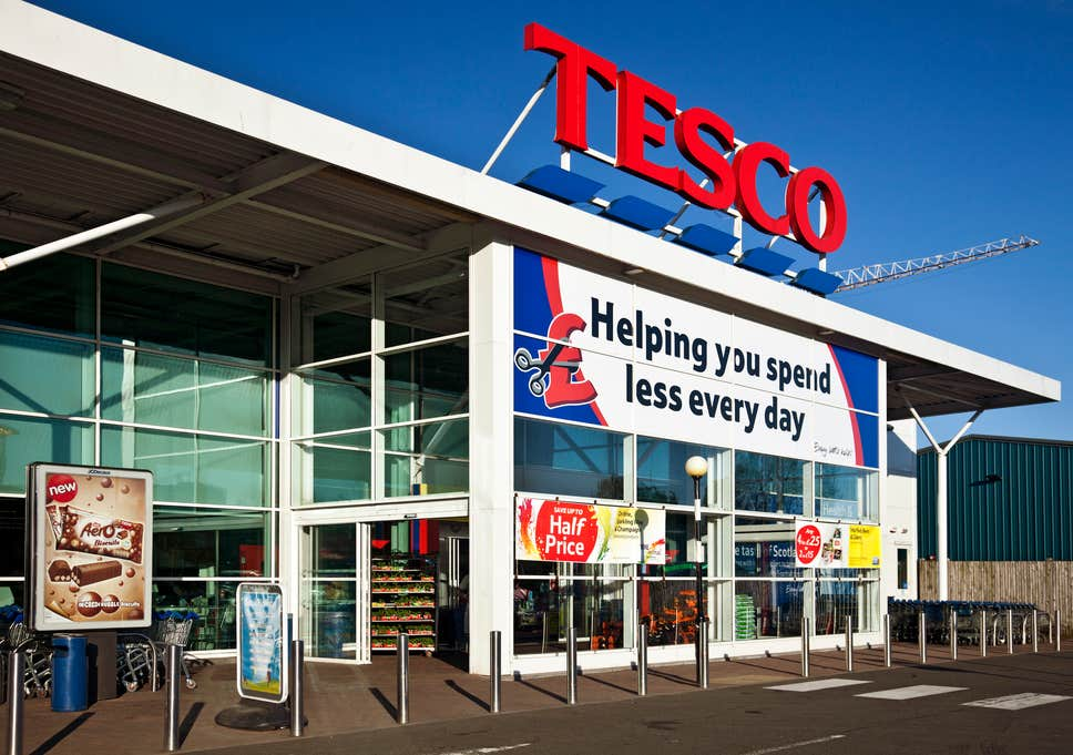 UK grocery stores Tesco