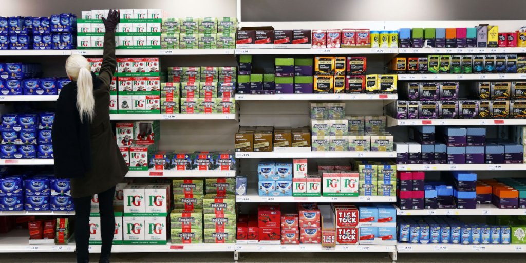 UK grocery stores British tea brands