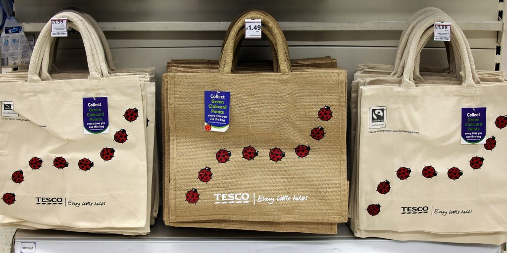 UK grocery stores eco bags