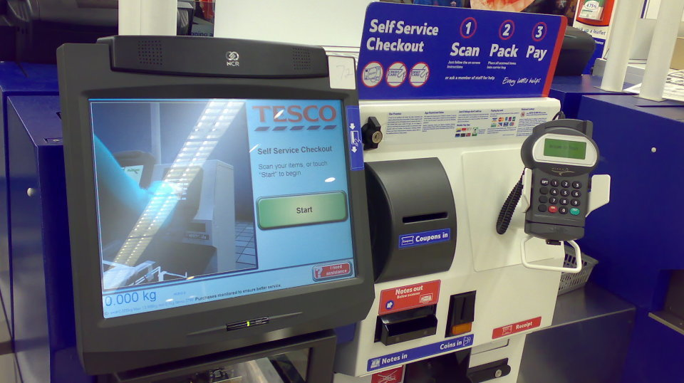 UK grocery stores self checkout