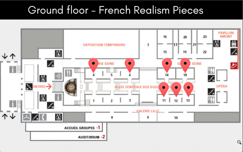Musee d'Orsay - French Realism floor plan